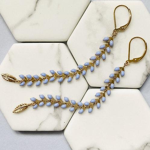 Wisteria Tanzanite Pale Blue Drop Earrings