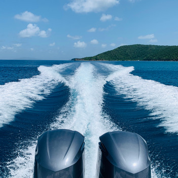 motors on yacht