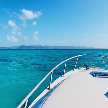 Looking out at the water in BVI