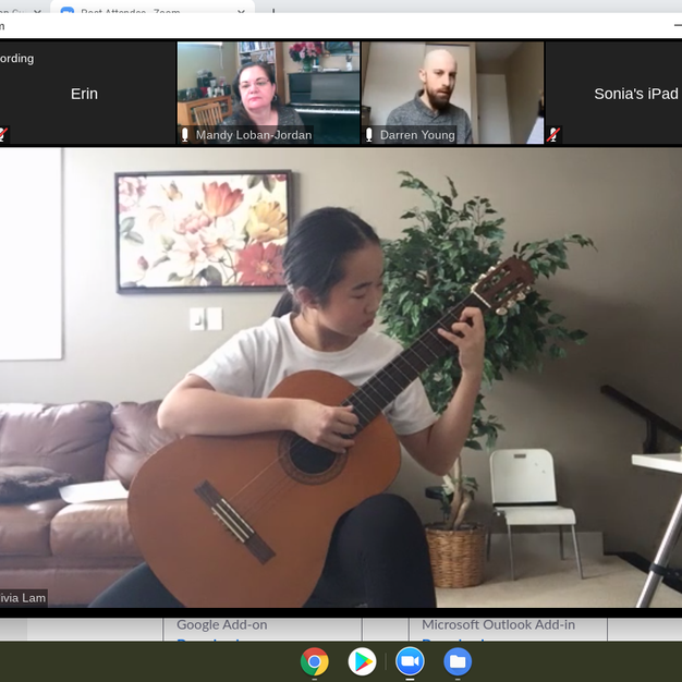 Classical Guitar Masterclass with Darren Young. Winter Workshop 2021.