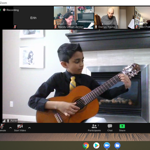 Classical Guitar Masterclass Performance. Winter Workshop 2021.