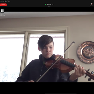 Violin masterclass perfomance. Winter Workshop 2021.