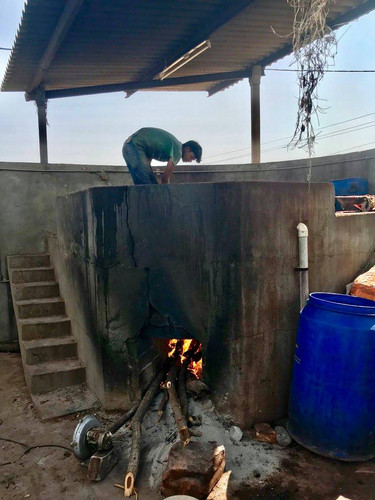 The boiling vat