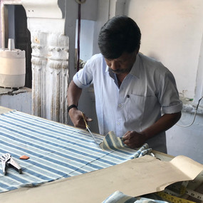 First cuts of our kala cotton, testing out some new designs.