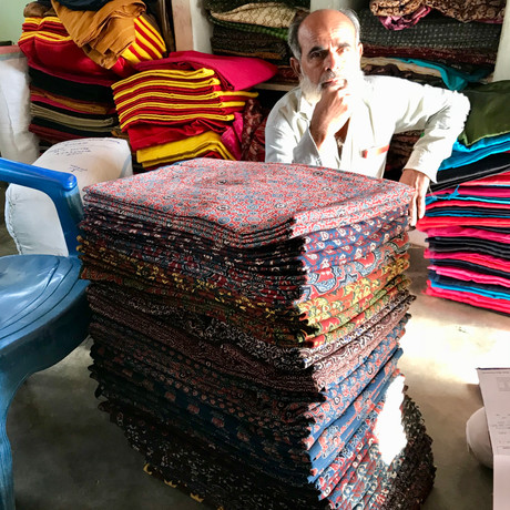 This is a pile of fabrics i was buying in a previous trip to the villages.