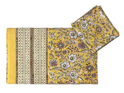Jaipur print king size/double sheet + 2 pillow cases
