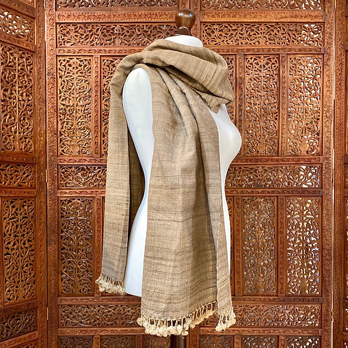 Tassar silk & wool shawl