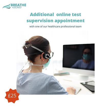Additional online test supervision