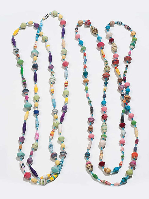 Afribead Long Multi Coloured Necklace