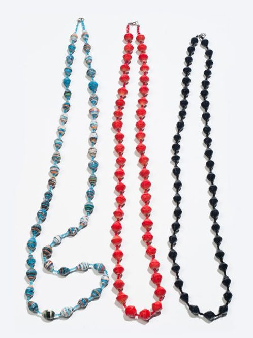 Afribeads Long Single Coloured Necklaces