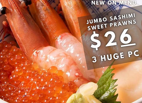 Botan Ebi (HUGE sweet prawns sashimi)