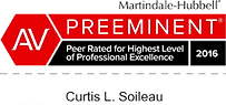 AV Preeminent Peer Rated For Highest Level of Professional Excellence - Beaumont Personal Injury Attorney - Curtis L. Soileau