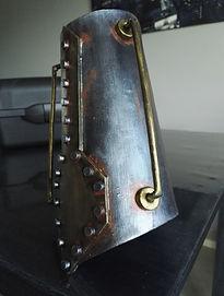 Bracelet métal steampunk-Robot LED Angers 49