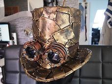 Steampunk-Chapeau-Robot LED Angers Paris
