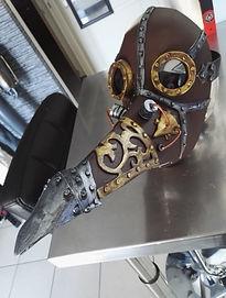 steampunk masque-Robot LED-Angers-Paris