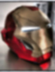 Creation Casque-Helmet Iron Man-Angers 49 maine et loire