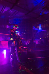 Robot Led daft punk-echassier robot led Angers