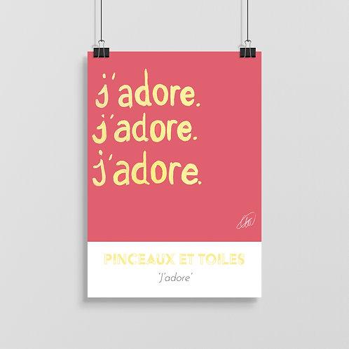 'J'adore' Print