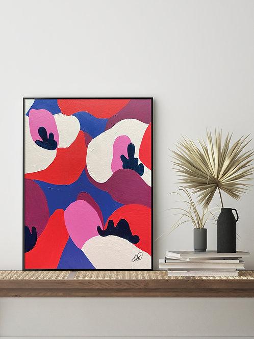 'Cubist Florals' Print 2.0