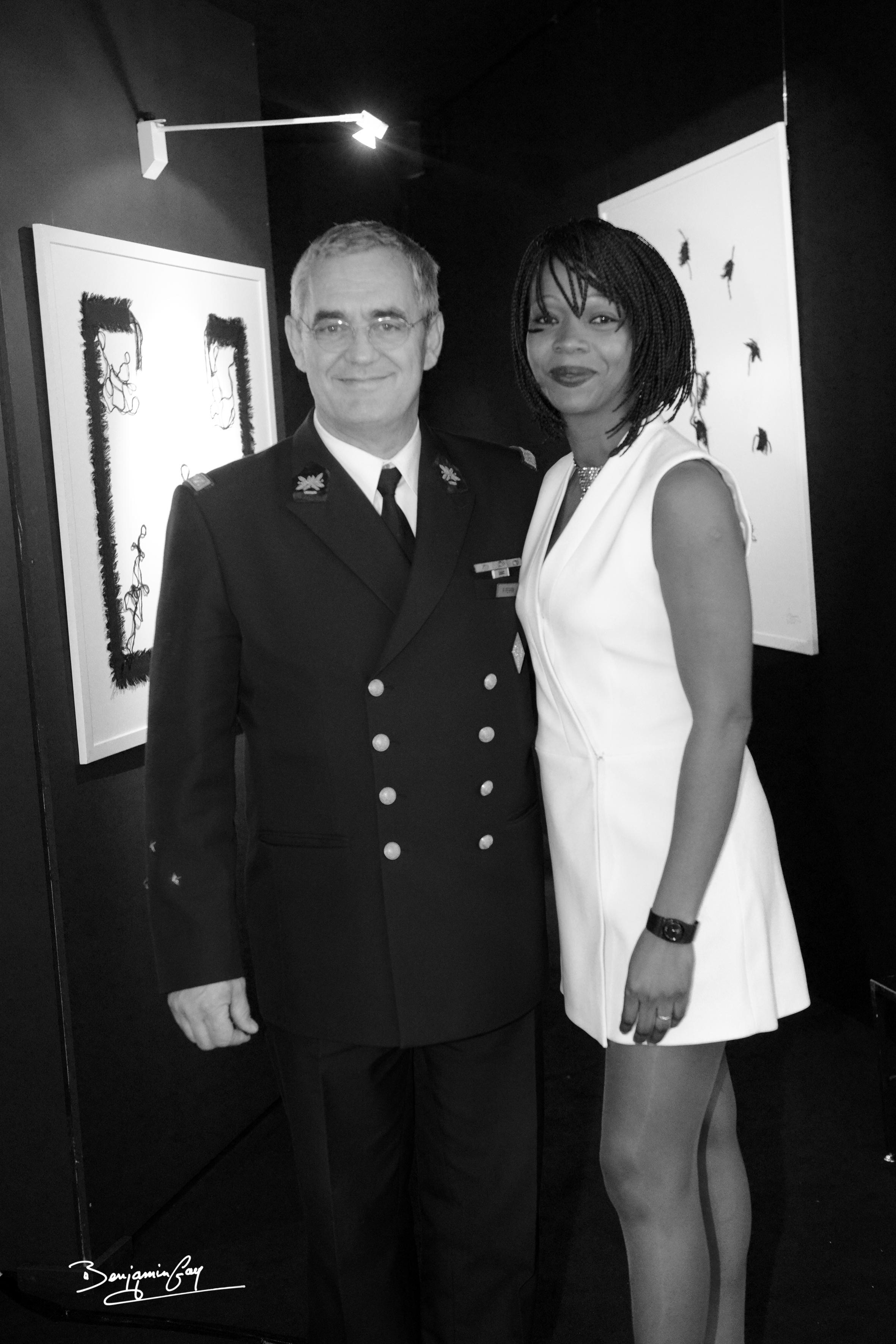Avec le Général Perrin