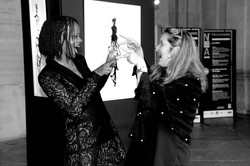 Avec Marie-Laure Hubert Nasser