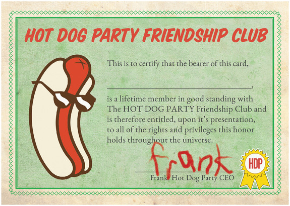 Hot Dog Party - Friendship Club Back