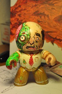 Live Painted Zombie