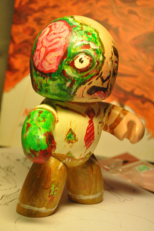 Live Painted Zombie 2