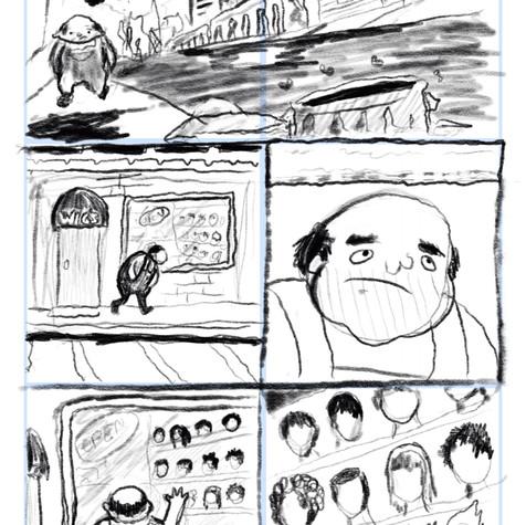 rough for a unproduced comic