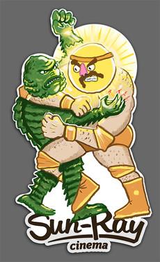 Sun-Ray Wrasslin Sticker
