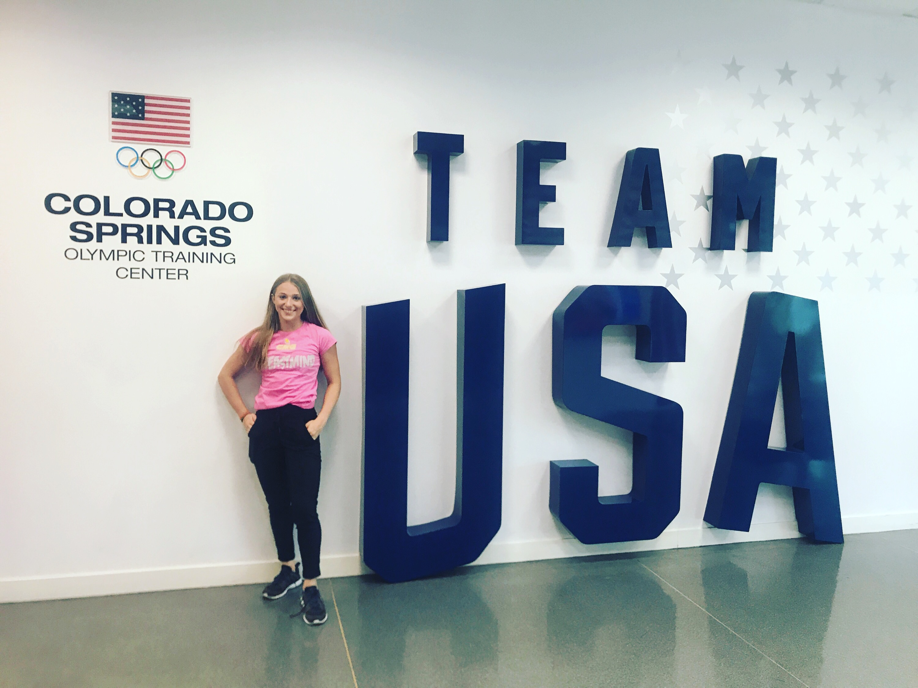 Emi working with Team USA (nice shir