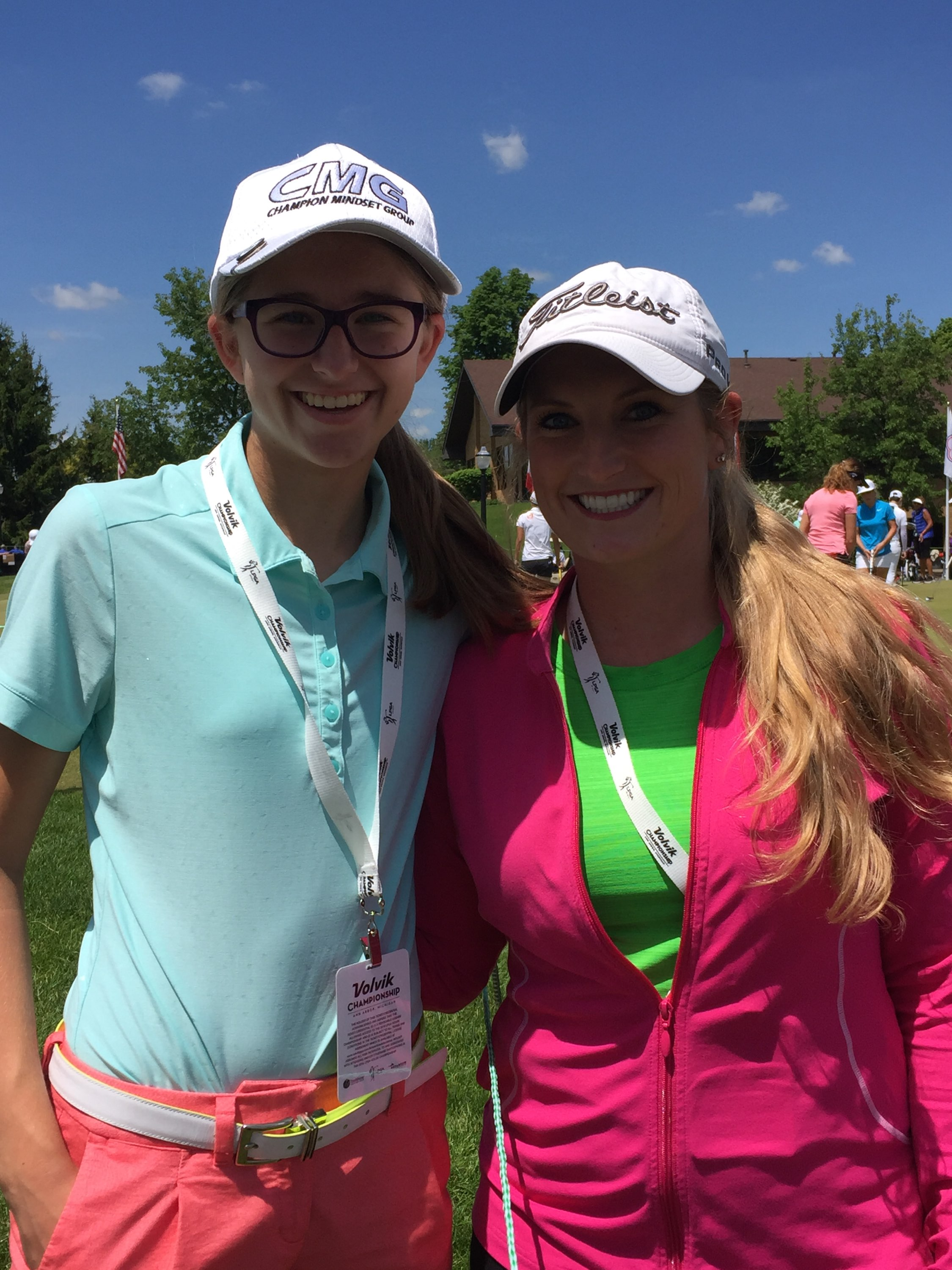 Sabel and Jackie at the LPGA