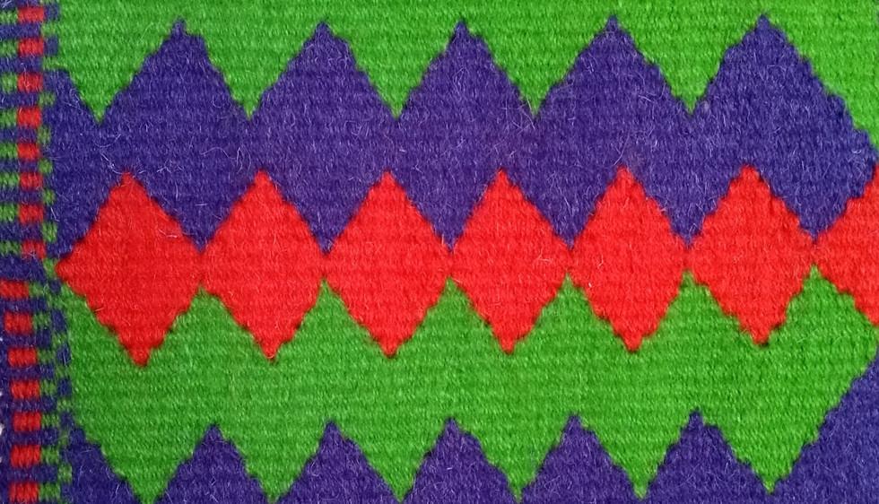Jacqui's tapestry weaving