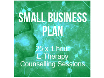 Small Business Plan - 25 x 1 hour E-Therapy Counselling Session