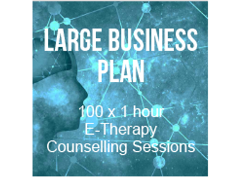 Large Business Plan - 100 x 1 hour E-Therapy Counselling Session