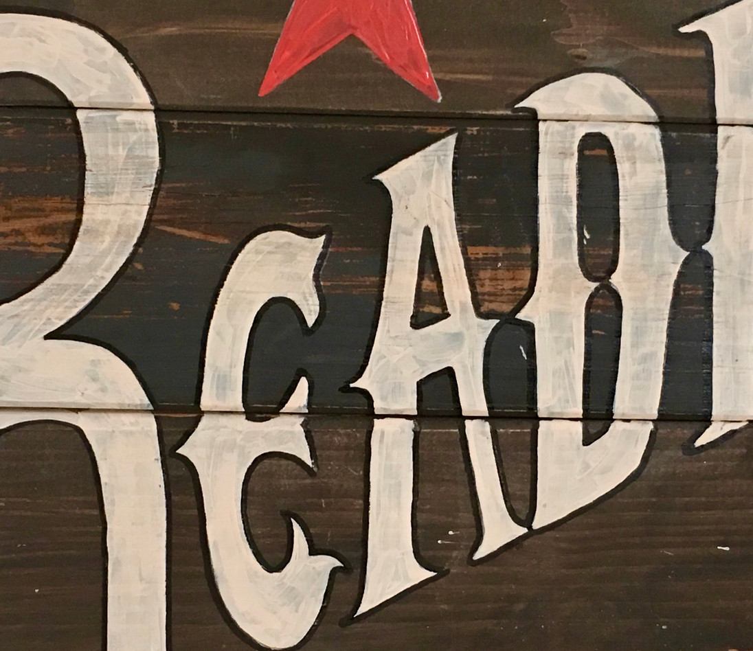 Reading Corral Sign Detail