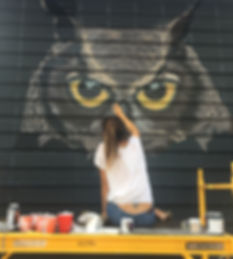 """Harriet The Hooter"" Wall Mural By Melissa Flynn @Melissaflynnart"
