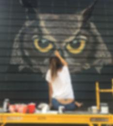"""Harriet The Hooter"" Wall Mural By Melissa Flynn @Melissaflynnart"