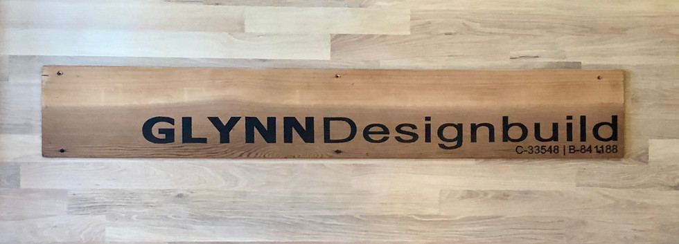 GlynnDesignbuild company sign