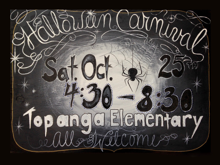 """Halloween Carnival Sign """"Spider and the Fly"""" inspired"""
