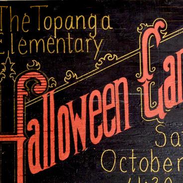 Halloween Carnival Sign Vintage Inspired Detail