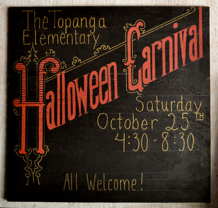 Halloween Carnival Sign Vintage Inspired