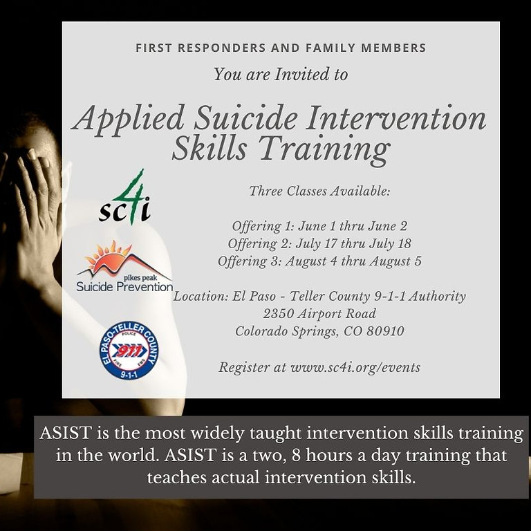 Applied Suicide Intervention Skills Training (ASIST) for First Responders (Offering 3)