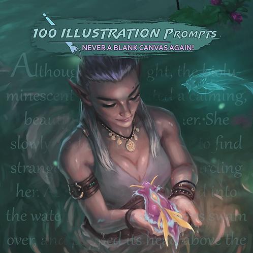 100 Illustration Prompts Workbook