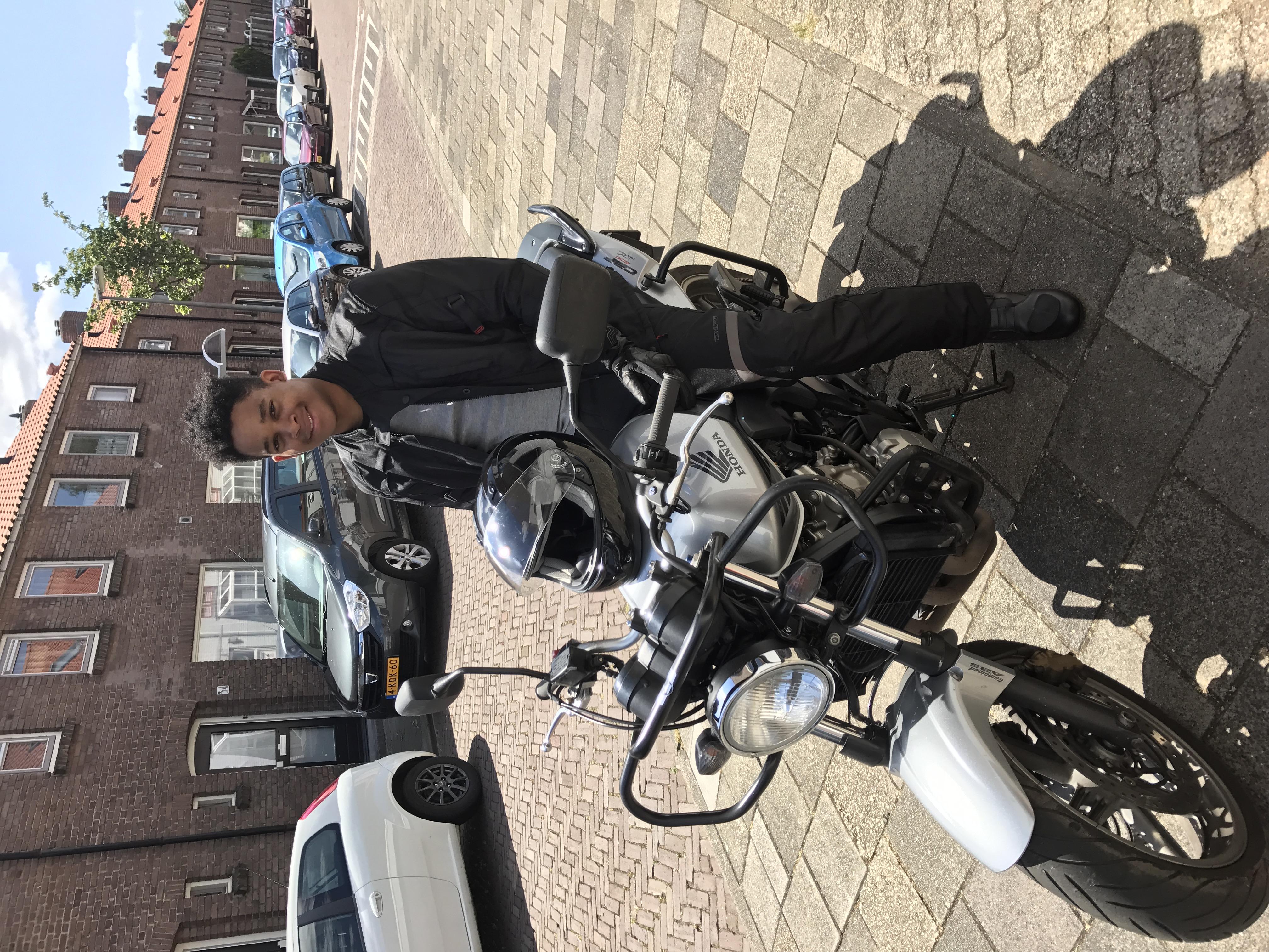 Proefles motorrijden