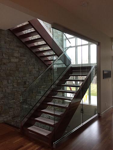 Liske Developments | Custom Home Builder | General Contractor | Stairs | Glass