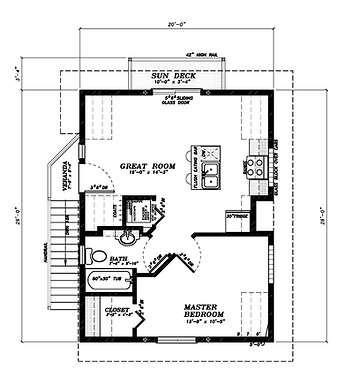 Edmonton custom garage garden suite plan Aroura 1