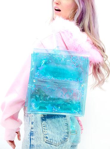 Liquid Glitter Backpack - Sugar Pop Blue