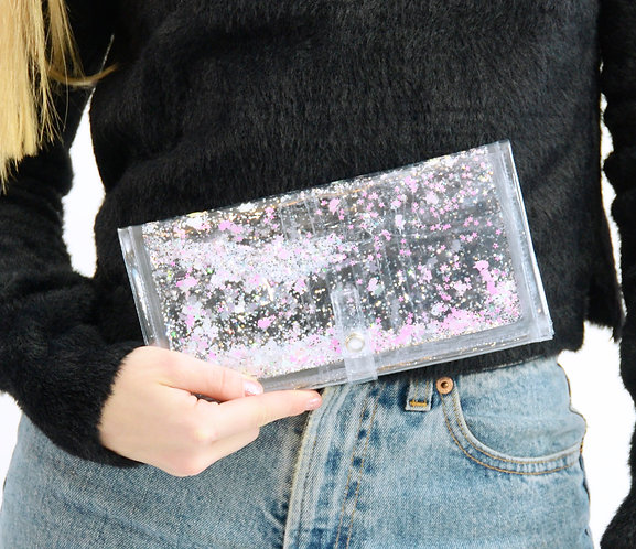 Liquid Glitter Wallet - Sparkling Unicorn