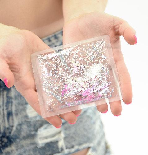 Liquid Glitter Sparkle Square - Unicorn - Stress Relief Object